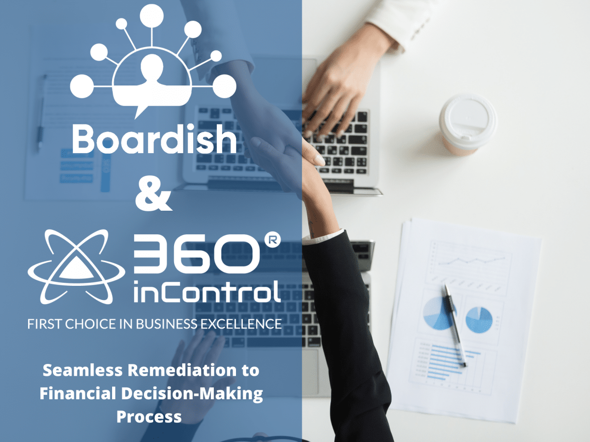 360inControl® Risk Matrix & Boardish Align For Seamless Remediation to Financial Decision-Making Process